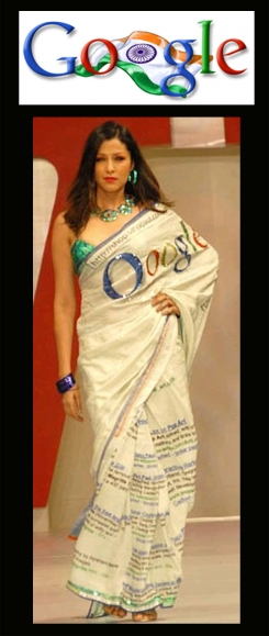 google-saree-by-satya-paul